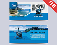 Helicopter Rides – Free Gift Certificate PSD Template
