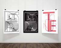 Typographic posters THUNDER-IMAGINE DRAGONS