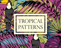 Tropical patterns. Hand drawn