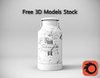 Milk Can Free 3D Model