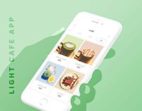 Light Cafe Coffee app and vi