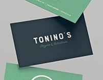 Tonino's Pizzeria Branding
