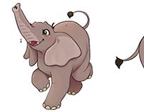 Elephant Character Turnaround