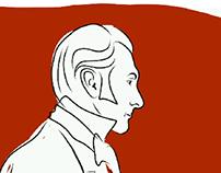 Victorian man profile