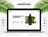 Landing Page for insulated stainless steel water bottle