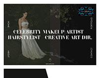 Website mokeup of Makeup artist/Hair stylist.