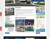Sitio Web Corporativo para empresa inmobiliaria.