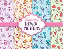 Seamless Flower Patterns