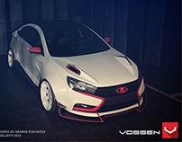 """Design body kit for Lada Vesta """"Time Attack"""""""