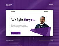 Attorney / Law Firm Landing Page Concept