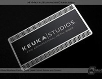 Black Metal Business Cards with Laser Etching