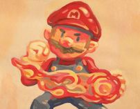 """It's A-mii-bo!"" Nintendo Gouache Painting Series"