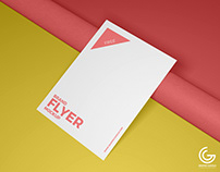 Free PSD Brand Flyer Mockup