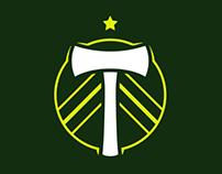 Portland Soccer Logos Animation