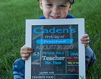 Caden's First Day