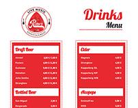 Ruby's Music Bar | Mallorca Cocktail Menu Designs