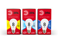 Packaging design for the red series of ERA bulbs