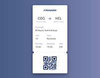 Boarding Pass - #DailyUI #024