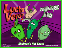 """Lucha Verde"", Hot Sauce Label"