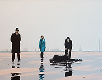The Death of George Gently oil on canvas 40x60 cms