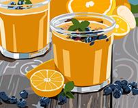 Papaya Mandarin Shake Animation