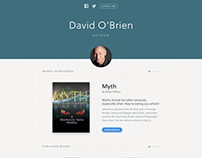 Author Microsite for Authors.me platform
