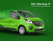 Opel Vivaro Van Mockup