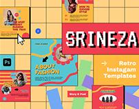 Srineza Retro Instagram Template