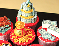 Chinese New Year Money Cupcake
