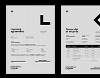 International exchange PJAIT – visual identity