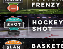Sports sweepstakes logos and web banners