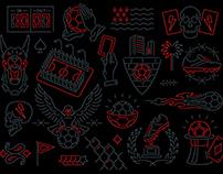 Azteca Soccer - Graphic Set
