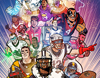 Football Superhero motion comics
