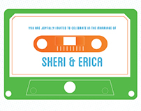 Wedding Invitation Set: Sheri and Erica
