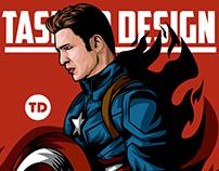 Illustration Captain America