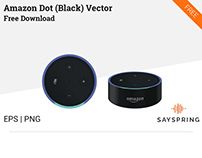 Amazon Dot Vector (Black) Free Download