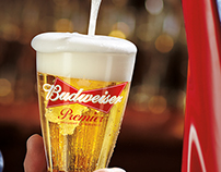 Budweiser Premier Draft: How to pour a glass