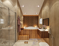 Modern mansard bathroom design