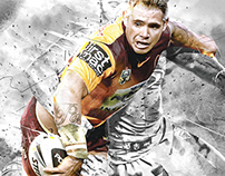 Brisbane Broncos NRL Artwork