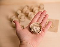 Homemade paper pasta