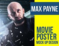 MAX PAYNE Movie Poster Mock Up Creative Design