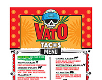 "MENU DESIGN - ""VATO TACOS"""
