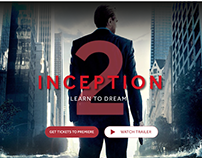 Concept of the movie site - Inception 2