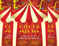 Circus Show Night - Premium A5 Flyer Template