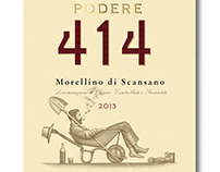 Podere 414 Wine Labels Illustrated by Steven Noble
