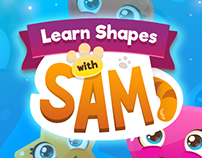 Learn shapes with Sam app design