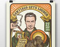Santiago Gets Louder - Rock Festival Poster