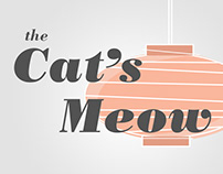 The Cat's Meow Event Rack Card