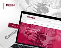 Canon | Rebranding | Logo & Web design