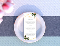 Free Wedding Menu Mockup